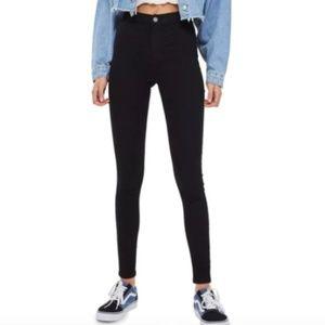 Topshop Joni Black High Waist Skinny Jeans Size 25